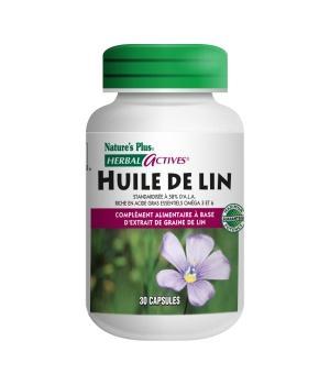 Huile de lin capsules nature s plus huile de lin 30 - Huile de lin plan de travail ...
