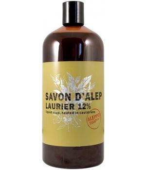 Savon d'Alep liquide Olive et Laurier 12% Laurier recharge 1 litre - Tadé