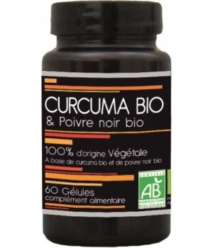 Curcuma bio et poivre noir bio Gélules Aquasilice,Curcuma