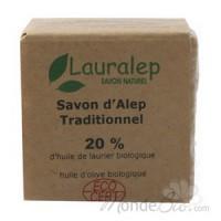 Savon d'Alep bio 20% huile de laurier 200 gr - Lauralep