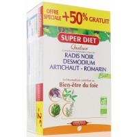 Quatuor Desmodium Radis Noir Romarin Artichaut 20+10 Ampoules - Super Diet