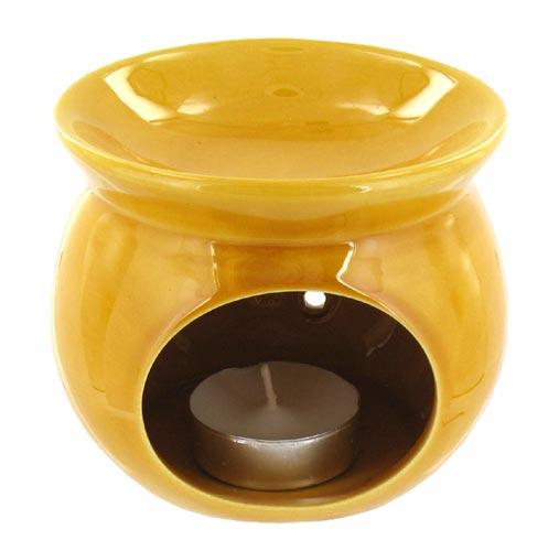 chauffe parfum maill jaune florame pour diffusion huiles essentielles. Black Bedroom Furniture Sets. Home Design Ideas