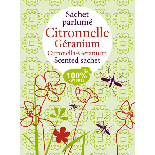 Sachet parfum citronnelle g ranium pour le linge florisens - Sachet parfume pour armoire ...