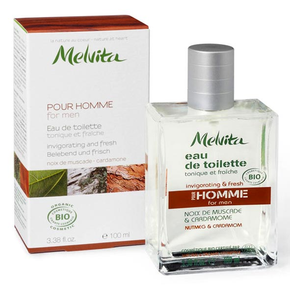 eau de toilette bio pour homme marque melvita. Black Bedroom Furniture Sets. Home Design Ideas