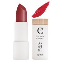 Rouge à lèvres satiné n° 223 vrai rouge 3.5g - Couleur Caramel - Aromatic Provence maquillage bio sophistiqué