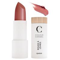 Rouge à lèvres nacré n° 224 brun rouille 3.5g - Couleur Caramel - Aromatic Provence maquillage bio