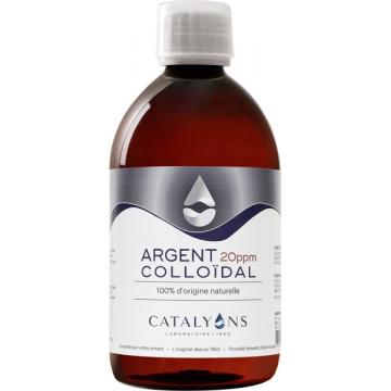 Oligo élément ARGENT colloïdal 20 PPM 500 ml - Catalyons