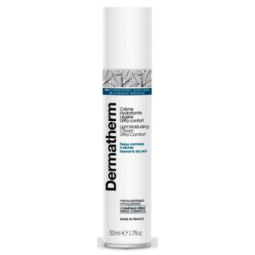 Crème hydratante légère ultra confort 50ml - Dermatherm
