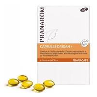 Origan + Bio 30 capsules marines pranarom, Huile essentielle bio d Origan compact aromatic provence,