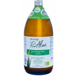 Jus bio d'Aloe Vera à boire - 1 litre - Pur Aloe