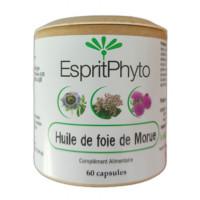 Huile de foie de morue 60 capsules de 500mg - EspritPhyto Aromatic provence