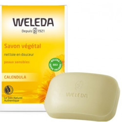 Savon végétal au calendula peau sensible 100 gr - Weleda