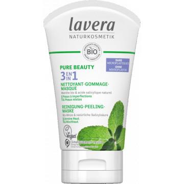 PURE BEAUTY 3en1 Nettoyant Gommage Masque 125ml - Lavera