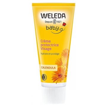 Crème protectrice visage Bébé au calendula 50 ml - Weleda