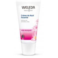 Crème de nuit lissante à la Rose Musquée 30ml - Weleda Anti rides