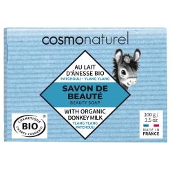 Savon végétal au lait d'ânesse Patchouli/ lang ylang - Cosmo Naturel