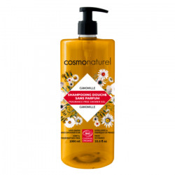 Shampooing douche sans parfum à l'extrait de Camomille 1 litre - Cosmo Naturel