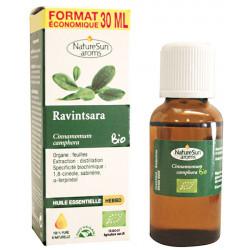 Huile essentielle de Ravintsara Flacon compte gouttes 30ml - Naturesun'Aroms