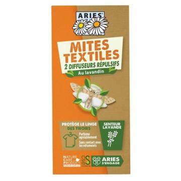 Crochet Diffuseur Répulsif Anti-Mites Textiles 2 diffuseurs - Aries