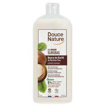 Gel douche surgras au beurre de karité 1L - Douce Nature