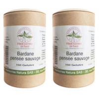 Bardane Pensée Sauvage lot de 2 boites 150 gélules végétales Herboristerie de paris beauté peau grasse Aromatic provence
