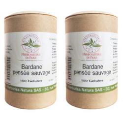 bardane pensee sauvage lot de 2 boites 150 gelules végétales Herboristerie de paris