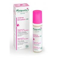 Emulsion 40 huile de rose musquée 50ml Mosqueta' s Green,   Soins hydratants bio peau sèche,  Soins bio peau sèche