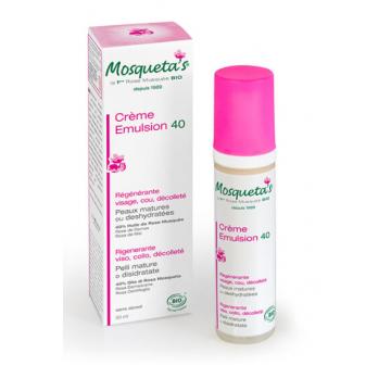 Emulsion 40 huile de rose musquée 50ml Mosqueta' s Green