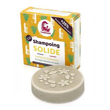 Shampoing solide Cheveux normaux à l'argile blanche et verte 70ml - Lamazuna