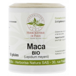 Maca Racine Bio 500mg 60 gélules - Herboristerie de paris