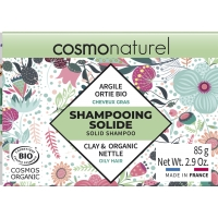 Shampooing solide Cheveux Gras 85gr - Cosmo Naturel sauge argile coco Aromatic provence
