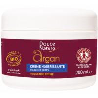 Crème nourrissante universelle à l Argan bio 200ml - Douce Nature crème corporelle Aromatic provence