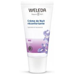 Crème de nuit réconfortante à l'Iris hydrate et ressource 30ml - Weleda