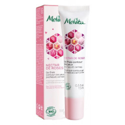 Gel frais contour des yeux Nectar de rose 15 ml - Melvita