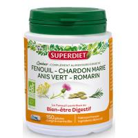 Quatuor Digestion Chardon Marie, Romarin Fenouil et Anis vert Super Diet Aromatic provence