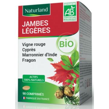 Vigne rouge Marronnier Cyprés Fragon Bio Jambes légères 90 Comprimés - Naturland
