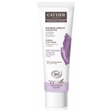 Masque anti fatigue à l'argile violette 100ml - Cattier