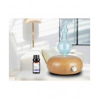 Diffuseur d'huiles essentielles électrique par nébulisation avec LED 7 couleurs