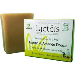 Savon Avocat Amande douce 40% de lait d'ânesse Lactéis 90gr - Le Domaine de Tamara