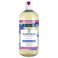 Coslys Shampooing anti jaunissement cheveux gris blancs et blonds Centaurée 500ml shampoing bio Aromatic Provence