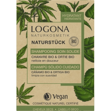 Shampoing soin solide chanvre Ortie Bio 60gr - Logona