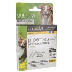 Pipettes antiparasitaires grand Chien 15 à 30 kg - Anibiolys