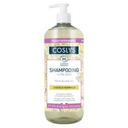 Shampooing cheveux normaux ultra doux à la reine des prés d'Auvergne 1 L - Coslys