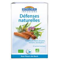 Infusion Défenses naturelles Hiver 20 sachets 24g - Biofloral résistance immunité fatigue Aromatic provence