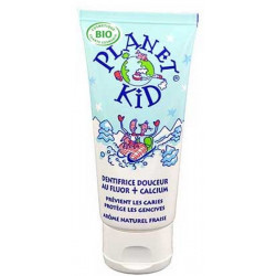 Dentifrice Douceur Fluor et Calcium Fraise 50ml - Planet Kid