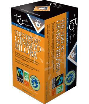 Thé vert bio au Ginkgo biloba - Touch Organic