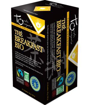 Thé Noir breakfast bio 24 infusettes -Touch Organic