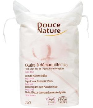 Ovales à démaquiller coton bio - Douce Nature