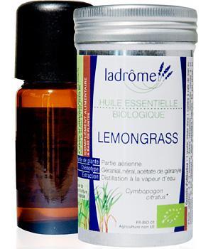 Huile essentielle bio Lemongrass - Ladrôme