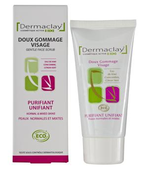 Gommage visage bio purifiant-unifiant 75 ml - Dermaclay